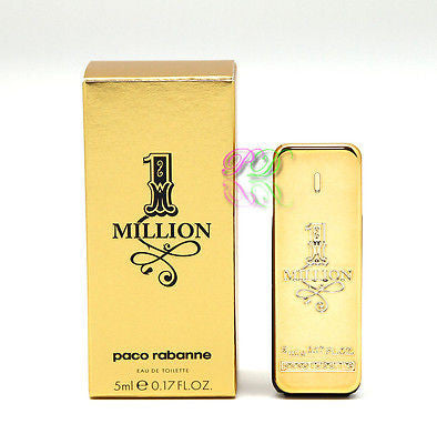 Paco Rabanne One Million Edt 5ml Men Perfume Eau de Toilette Miniature Boxed