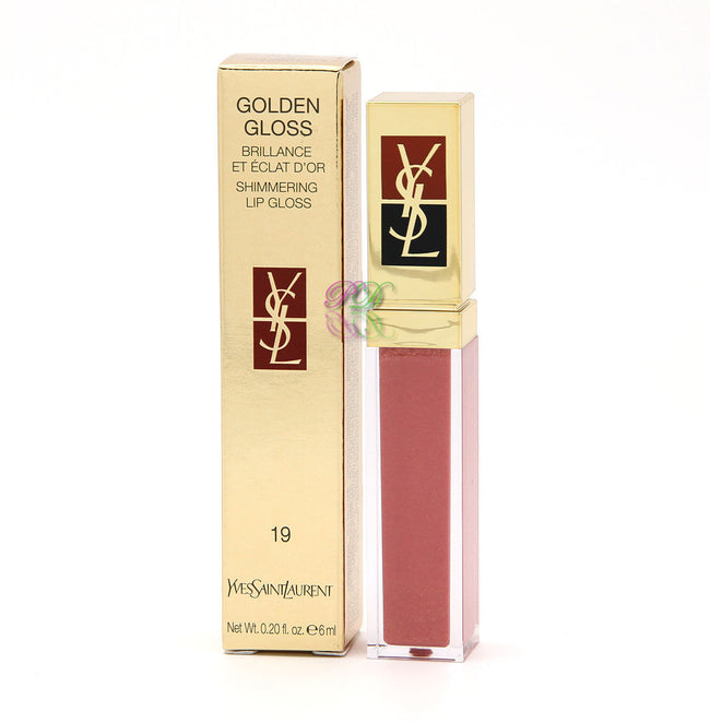 Yves Saint Laurent Golden Gloss No 19 Shimmering Lip Gloss 6ml Women Ysl New