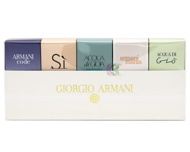 Giorgio Armani Travel Exclusive Edp Gift Set Women Perfume Eau de Parfum Mini