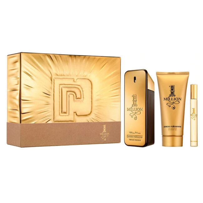 Paco Rabanne One Million Eau De Toilette Spray 100ml Set 3 Pieces 2020