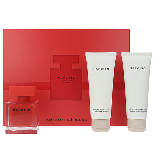 Narciso Rodriguez Rouge Eau De Perfume Spray 50ml Set 3 Pieces 2019