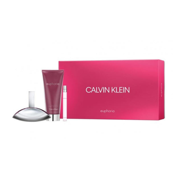 Calvin Klein Euphoria Eau De Perfume Spray 100ml Set 3 Pieces 2018