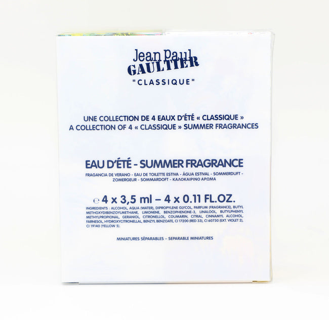 Jean Paul Gaultier Classique Summer Gift Set Edt 3.5ml x 4 Women Perfume JPG New