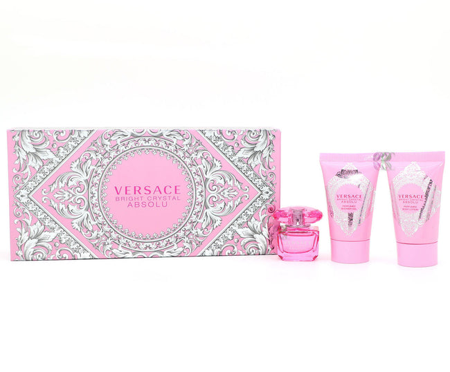 Versace Bright Crystal Absolu Gift Set Edp 5ml Body Lotion 25ml Shower Gel 25ml