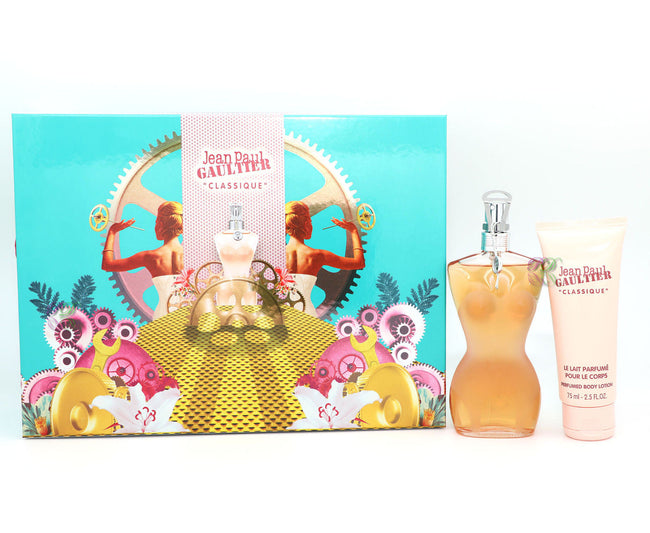Jean Paul Gaultier Classique Gift Set Edt 100ml + Body Lotion 75ml Women JPG New