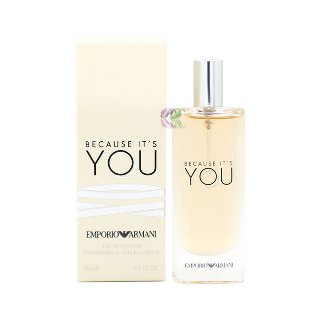 Emporio Armani Because It's You Edp 15ml Perfume Women Eau de Parfum Spray New