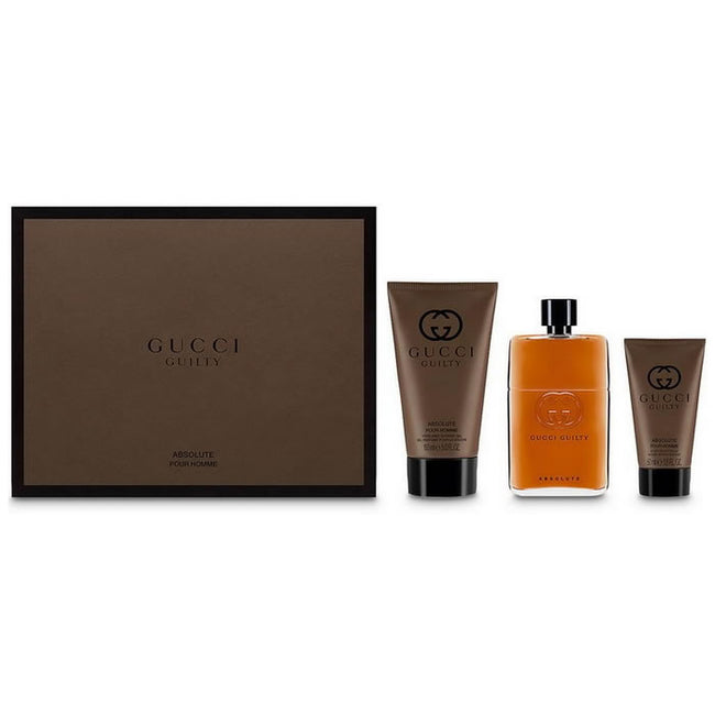 Gucci Guilty Absolute Pour Homme Eau De Perfume Spray 90ml Set 3 Pieces 2018