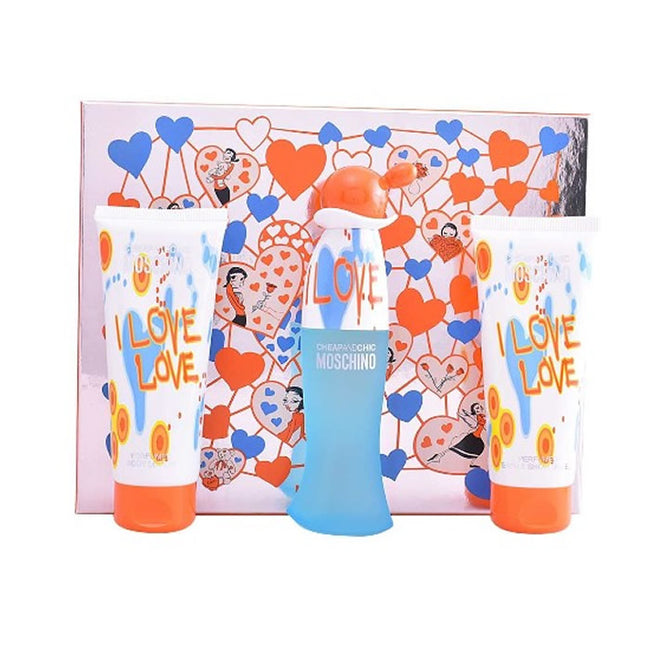 Moschino Cheap And Chic I Love Love Eau De Toilette Spray 100ml Set 3 Pieces 2020