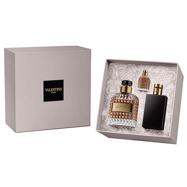 Valentino uomo Eau De Toilette Spray 100ml Set 3 Pieces 2018