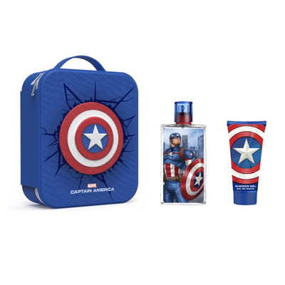 Marvel Captain America Eau De Toilette Spray 100ml Set 3 Pieces 2020