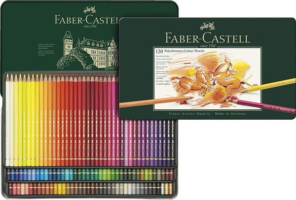 Faber-Castell 110011 Polychromos Colored Pencils- Tin of 120
