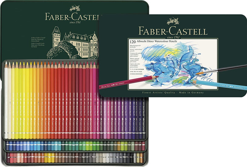 Faber-Castell Albrecht Durer 120 Watercolor Pencil Set Tin - 117511