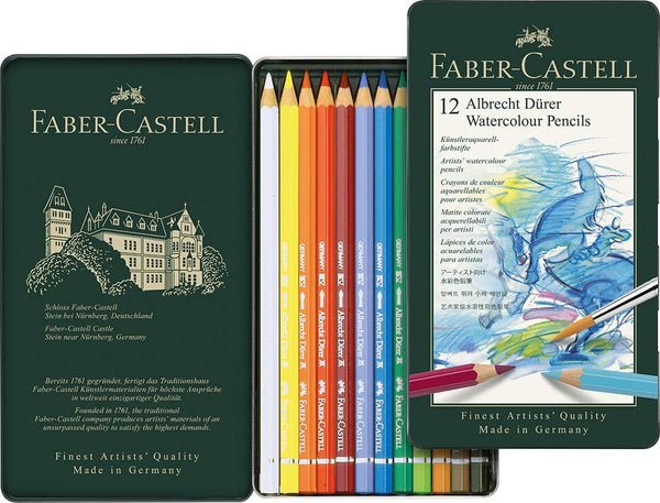 Faber-Castell 117512 Albrecht Durer Watercolor Pencils Set of 12