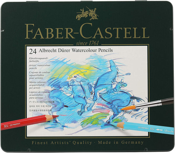 Faber-Castell 117524 Albrecht Durer Artist Watercolor Pencils in A Tin - 24 Pack