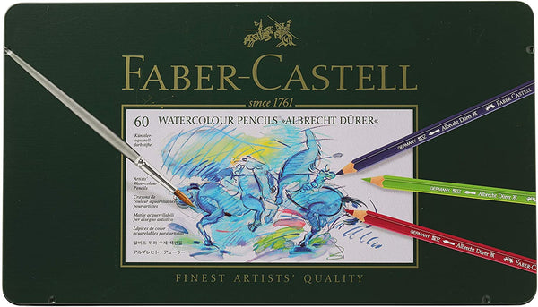 Faber-Castell Albrecht Durer Watercolor Pencil Tin, Set of 60 Colors- 117560