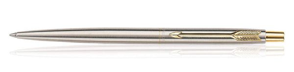 Parker Classic Stainless Steel Gold Trim GT Ball Pen NEW
