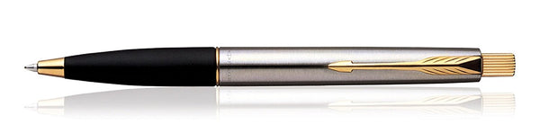 Parker Frontier Stainless Steel GT Gold Trim Ball Point Pen