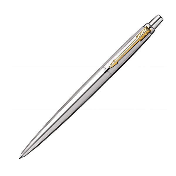 PARKER JOTTER STAINLESS STEEL GOLD PLATED TRIM BALL POINT PEN