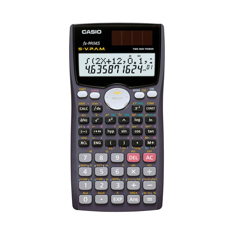 Casio fx-991MS Scientific Calculator with 2-Line Display