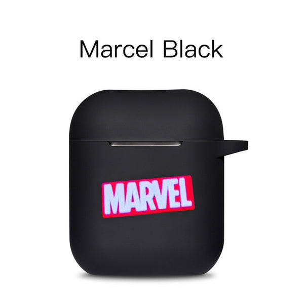Marvel Cartoon Silicone Bluetooth Earphone Case Ultra-thin Cute Protection Cover For Apple AirPods