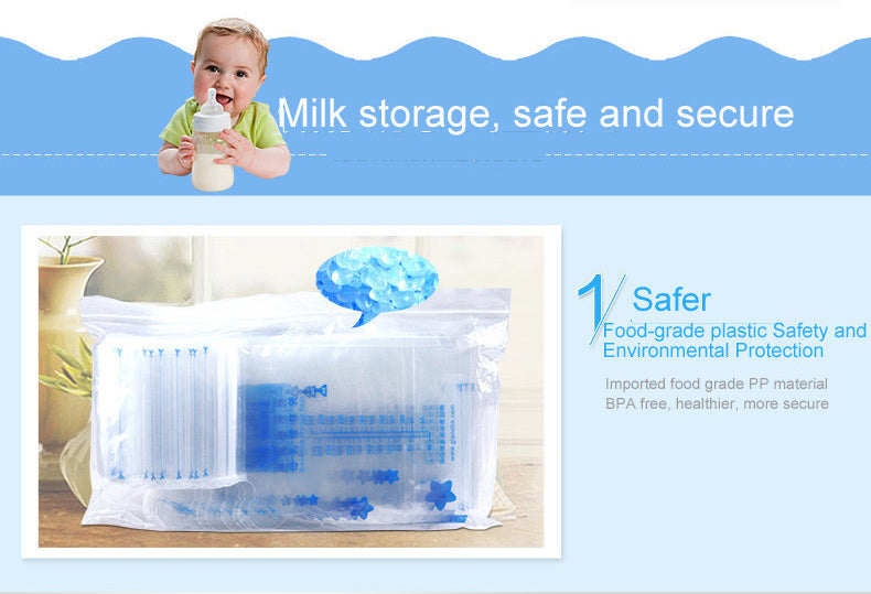 40pcs 250ml Baby Breast Milk Storage Bags