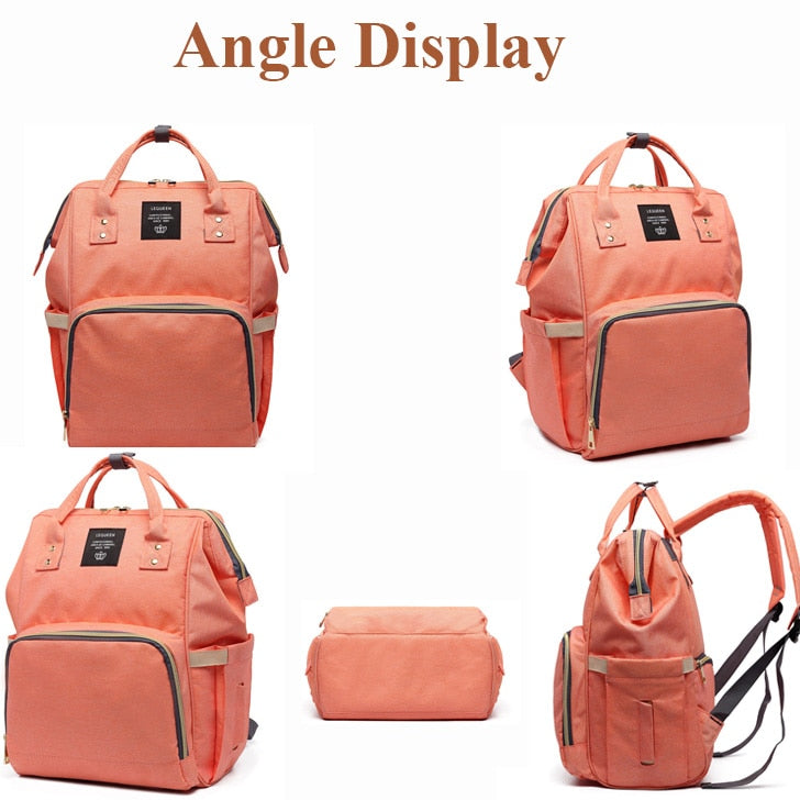 Maternity Diaper Backpack Bag with Large Capacity for Baby Care