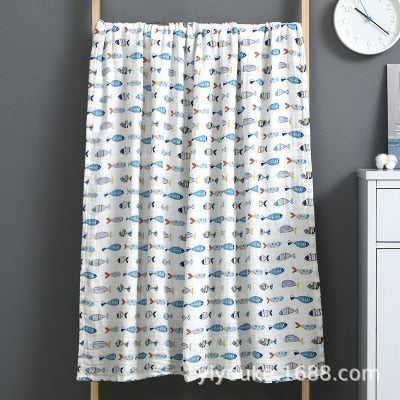 Muslin 100% Cotton Baby Swaddles Soft Newborn Blankets