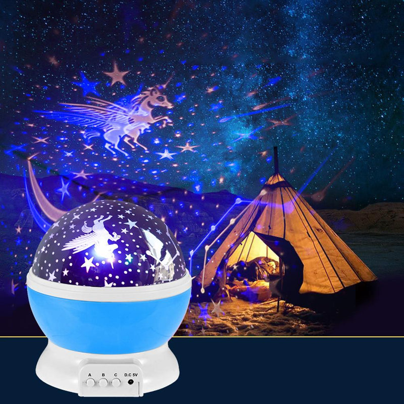 LED Rotating Night Light Projector Starry Sky Star for Kids