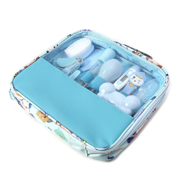 Newborn Baby Kids Nail Hair Health Care Thermometer Grooming Brush with Carry Bag -  Kit 13 piece set