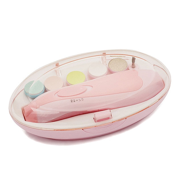 Safe Electric Nail Clipper Cutter Baby Nail Trimmer