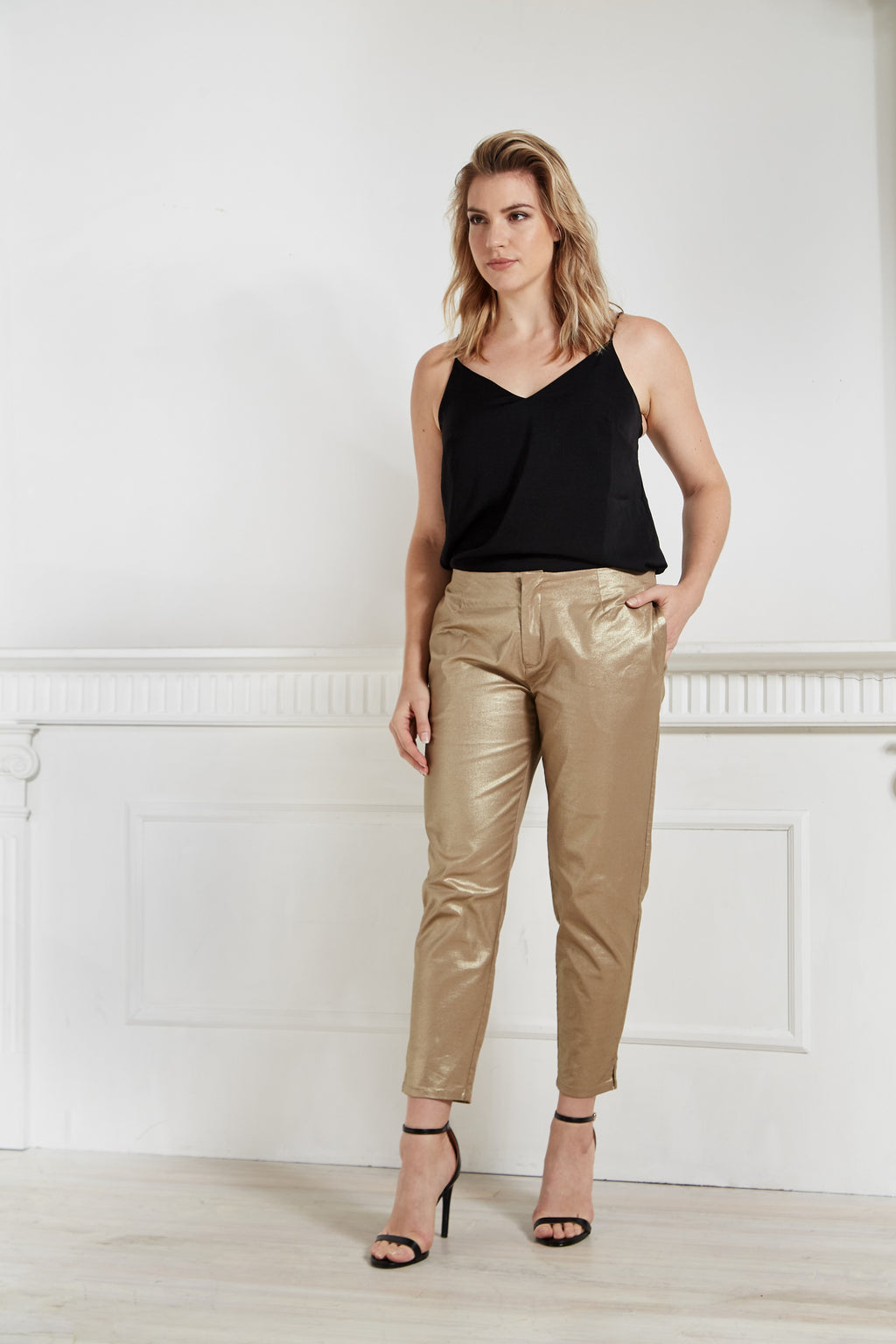 Gold Denim Pant