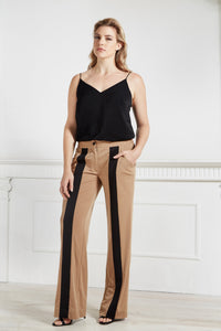 Contrast Pant with Vertical Stripe