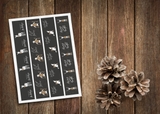 Kerst banners - grey collectie