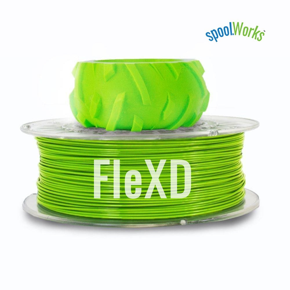 E3D spoolWorks FleXD Semi-flexible TPU Filament - 1.75mm, 500g, Monster Green16