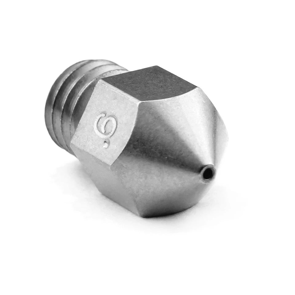 Micro Swiss MK8 Plated Brass Wear-Resistant Nozzle - 0.6mm