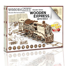 Wooden.City Express with Rails Mechanical Model