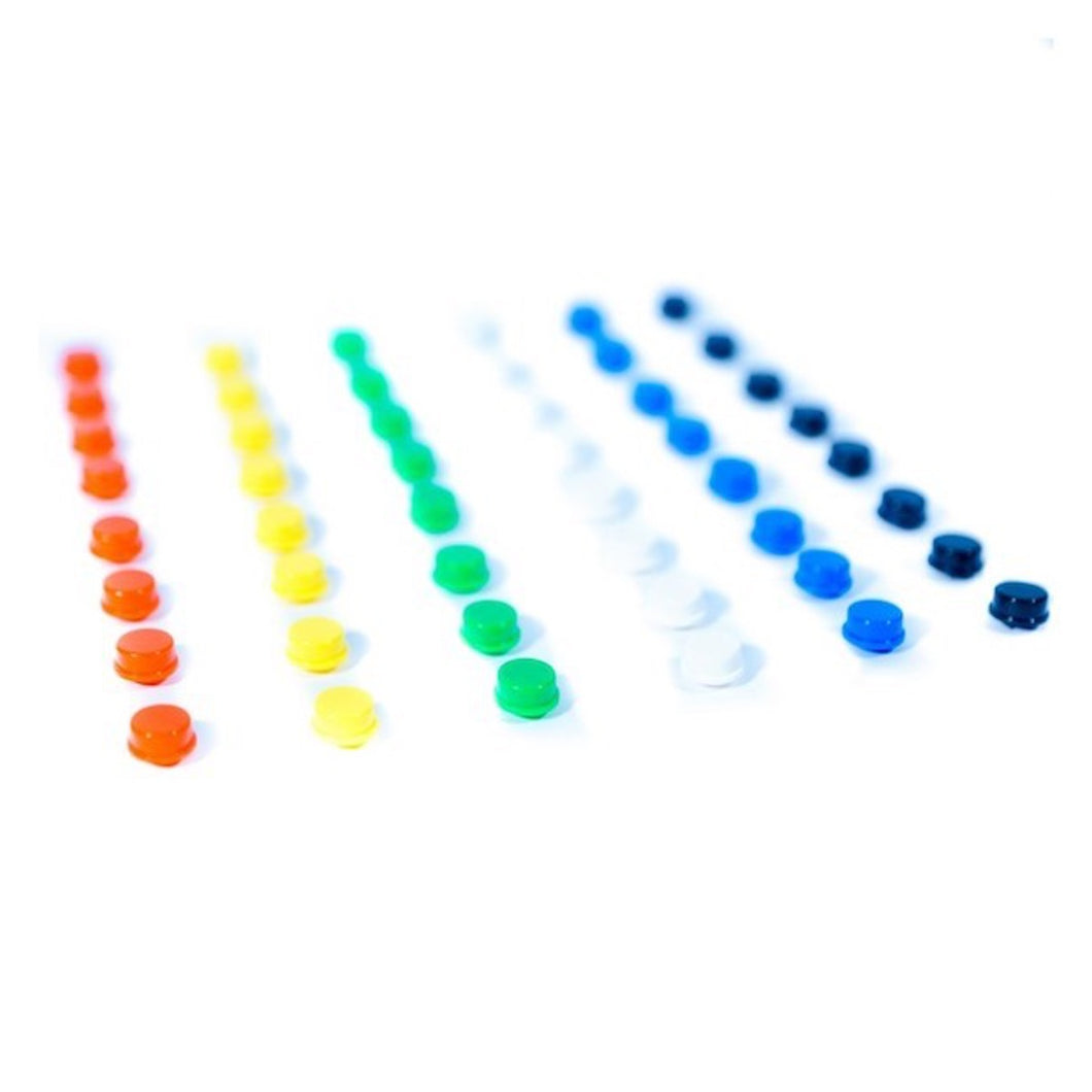 MAKERbuino Colored Button Caps Pack (42 pcs)