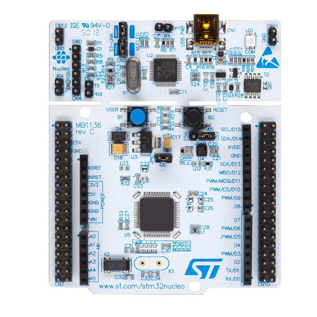 STM32 Nucleo-64 Development Board with STM32F446RE MCU