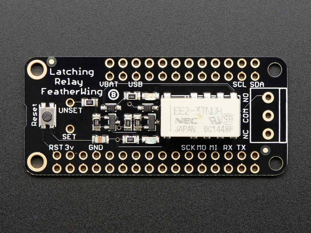 Adafruit Latching Mini Relay FeatherWing