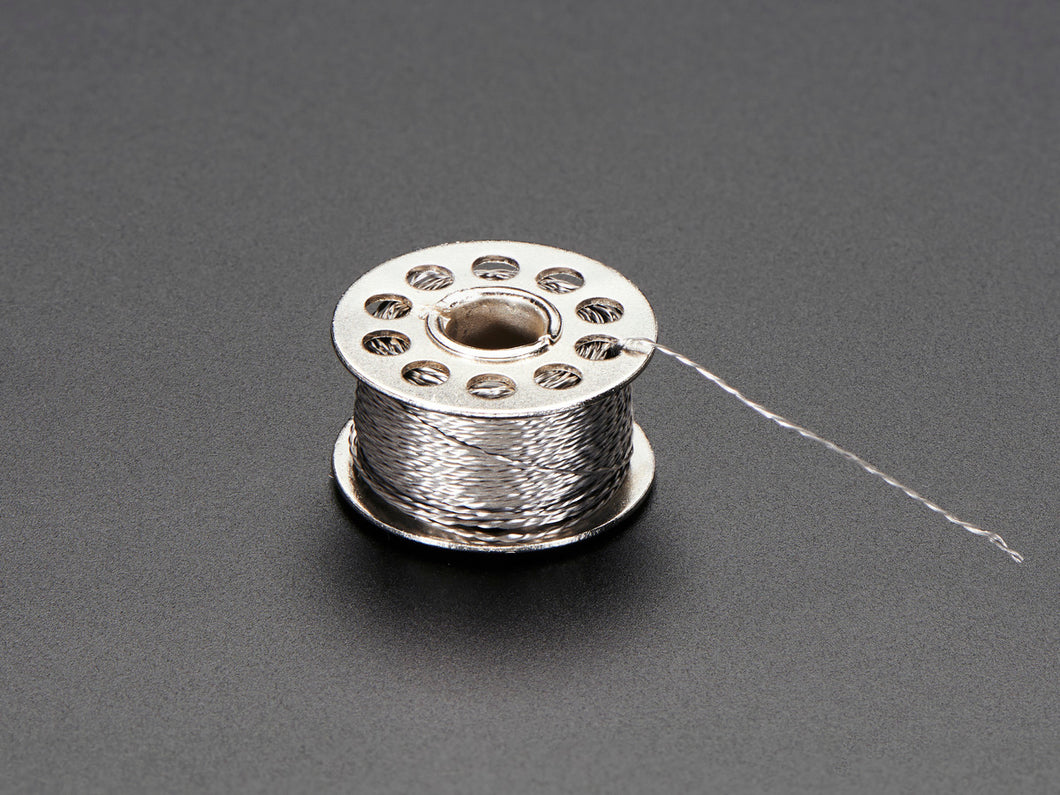 Adafruit Stainless Thin Conductive Thread - 2 ply - 23 Meter/76 ft