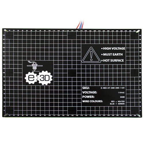 E3D High Temperature Heated Bed - 300x200mm, 110V