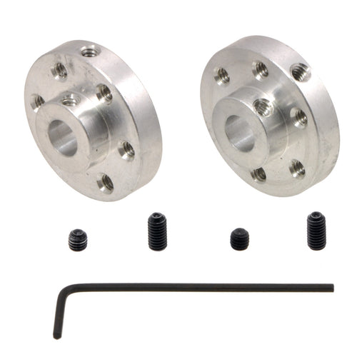 Pololu Universal Aluminum Mounting Hub for 6mm Shaft Pair, #4-40 Holes (2 pack)