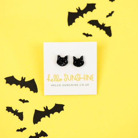 Glitter Kitty Studs from Sunshine Jo