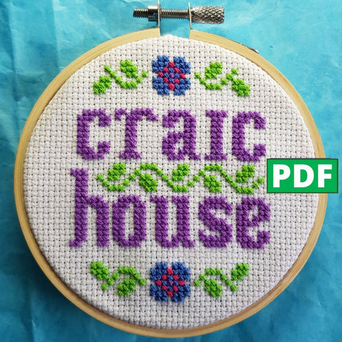 Craic House Cross Stitch Pattern - Son of a Cross Stitch