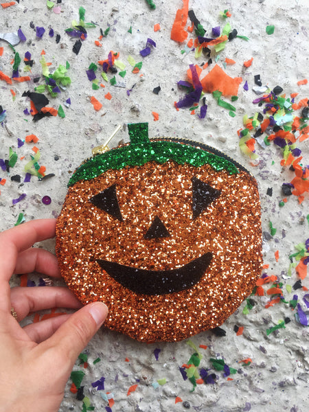 SUPER SPARKLY PUMPKIN COIN PURSE from Puptart