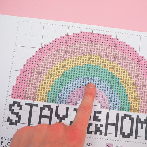 Stay The Fuck Home Cross Stitch Chart
