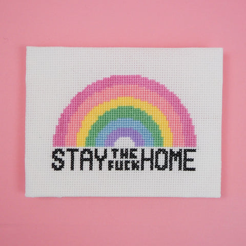 Stay The Fuck Home Cross Stitch - HOYFC.com