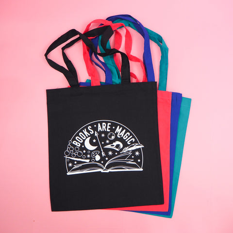 Books are Magic Tote Bag - Hand Over Your Fairy Cakes - hoyfc.com