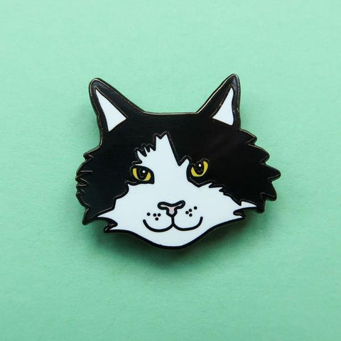 Frankie The Cat Enamel Pin from Nikki McWilliams