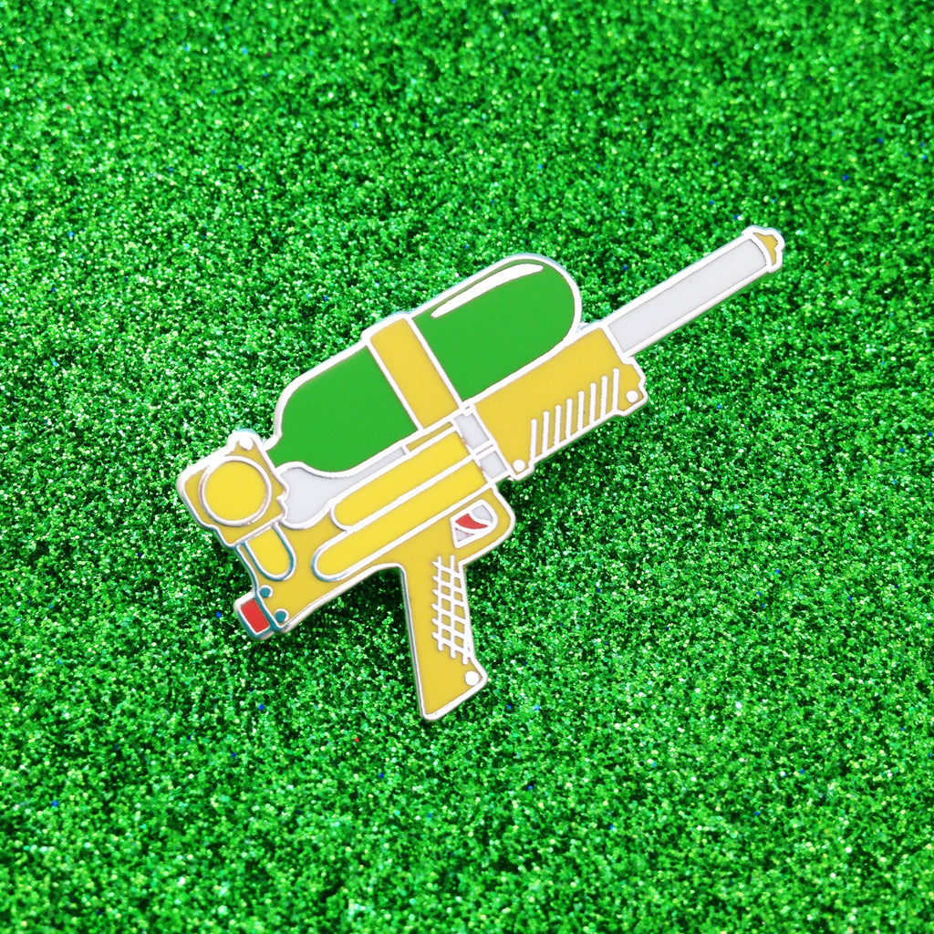 Water Gun Enamel Pin - Hand Over Your Fairy Cakes - hoyfc.com